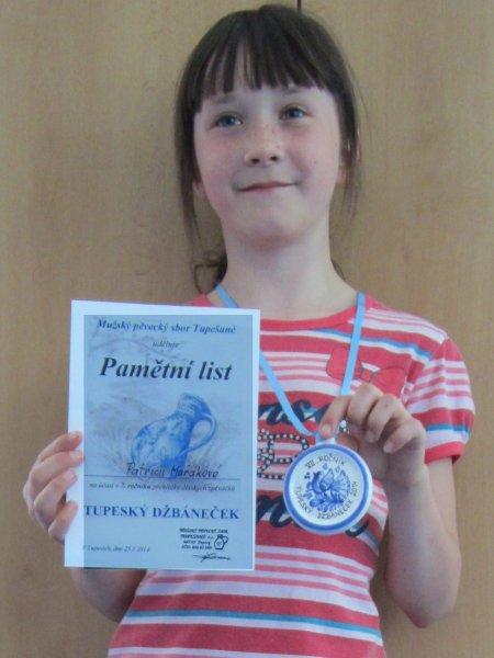 20140526 - Patricie Mařáková zpívala na Tupeském džbánečku