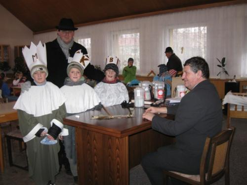 20110109 - Tříkrálová sbírka 2011 ve Zlechově
