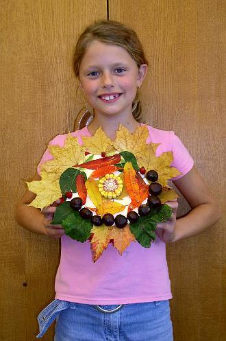 Podzimní dekorace od žáků 4. třídy
