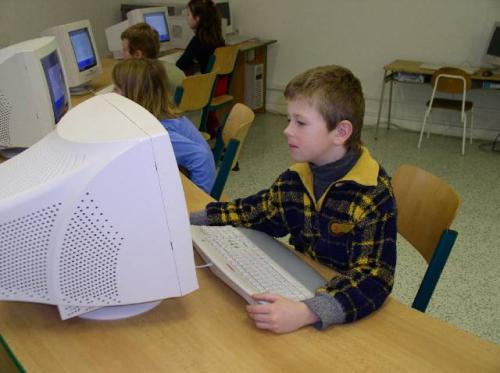 Druhá třída v PC učebně
